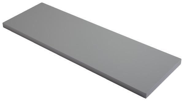 Tablette p 18 mm l 60 x p 19 cm gris brico d p t for Tablette brico depot