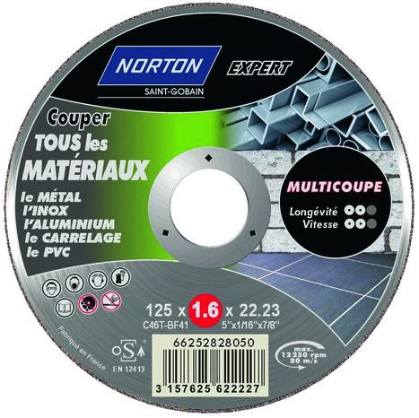 Disque multi coupe pour m tal inox aluminium carrelage et pvc 115 mm brico d p t - Disque coupe carrelage 180 mm ...