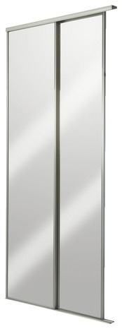 pack de 2 portes coulissantes miroir blizz x cm brico d p t. Black Bedroom Furniture Sets. Home Design Ideas