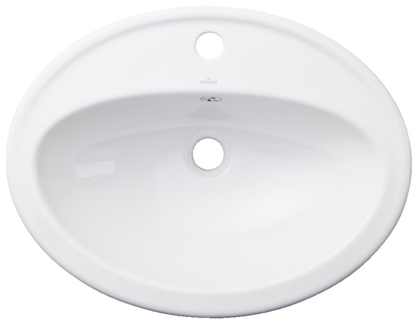 vasque kascada en porcelaine blanche 535x410x175 mm. Black Bedroom Furniture Sets. Home Design Ideas
