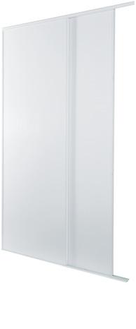 lot de 2 portes coulissantes blanches h 250 cm l 120 cm brico d p t. Black Bedroom Furniture Sets. Home Design Ideas