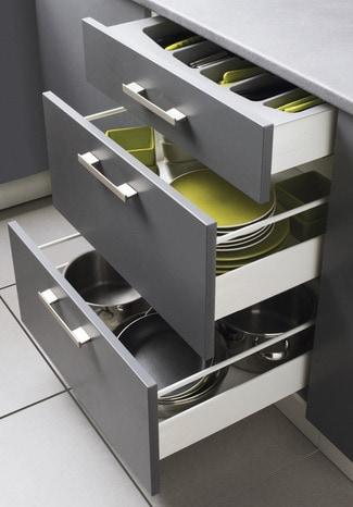 Tiroir blanc h 70 mm brico d p t for Tiroir coulissant pour meuble cuisine