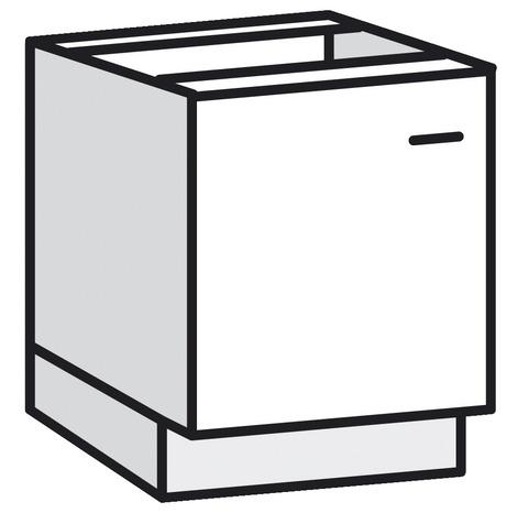 meuble bas 1 porte bali blanc l 60 x h 82 x p 57 6 cm