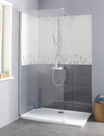 paroi de douche walk in atoll verre transparent h 195 cm. Black Bedroom Furniture Sets. Home Design Ideas