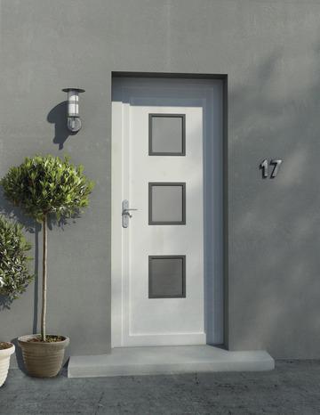 Porte d 39 entr e pvc trio h 215 x l 90 cm droite brico d p t - Porte d entree pvc vitree brico depot ...