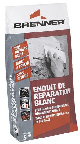 Enduit de r paration blanc poids 5 kg brico d p t - Enduit joint placo brico depot ...