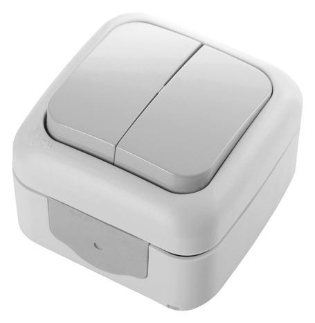 double va et vient tanche clipser ip54 brico d p t. Black Bedroom Furniture Sets. Home Design Ideas