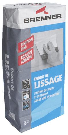 enduit de lissage en poudre sac de 15 kg brico d p t. Black Bedroom Furniture Sets. Home Design Ideas