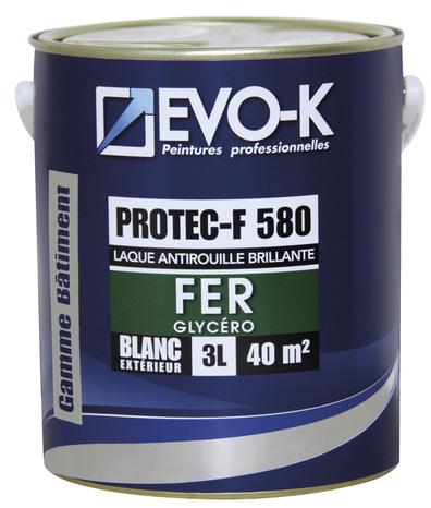 Peinture ext rieure sous couche de protection m taux ferreux blanc brillant protec f 580 0 75 l - Sous couche peinture brico depot ...