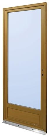 Porte fen tre bois 1 vantail 215x80cm gauche h 215 x l for Porte isolante interieure brico depot