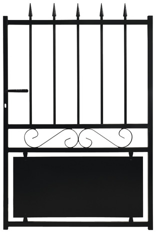 portillon fer cardiff noir l 1 03 x h 1 40 m brico. Black Bedroom Furniture Sets. Home Design Ideas
