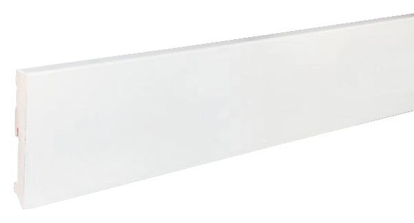 plinthe de r novation en bois avec rev tement film blanc. Black Bedroom Furniture Sets. Home Design Ideas