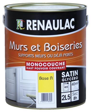 Peinture De Finition Blanc Aspect Satin Pour Boiseries Et Radiateurs - Peinture glycero a l eau