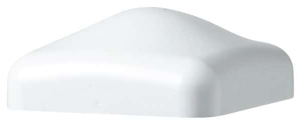 chapeau pour poteau pvc blanc h 25 mm section 80 x 80 cm brico d p t. Black Bedroom Furniture Sets. Home Design Ideas