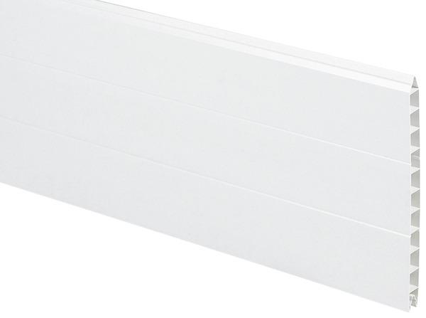 Planche en pvc blanche l 3 m x h 31 8 cm x p 24 mm for Planche pvc exterieur