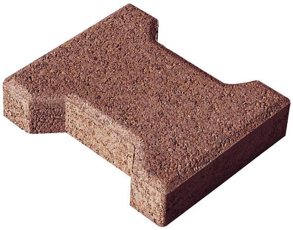 Pav de jardin en b ton rouge forme en i l 16 5 cm l for Bordures de jardin en beton brico depot