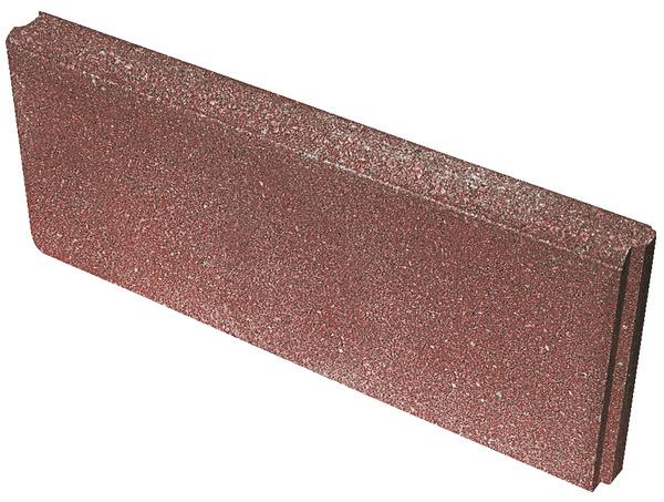 Bordure Rouge En Beton Lisse 50x20 Cm Brico Depot