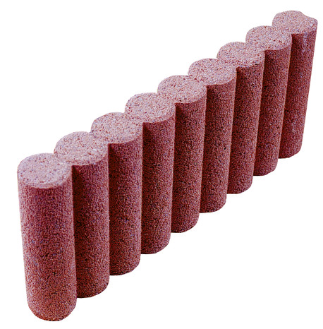 Bordure rondin en b ton rouge cm cm brico d p t for Rondin de bois brico depot