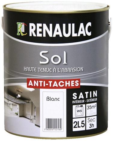 Peinture sols colori blanc satin anti t ches et for Peinture carrelage julien brico depot