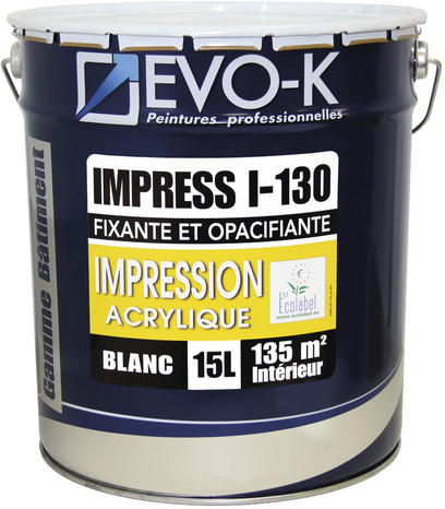 couche fixante acrylique plâtre i-130 pour les plaques de plâtre