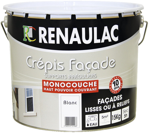 Crépi Pour Façade Tout Type De Façade Blanc Mat 15 Kg - Brico Dépôt