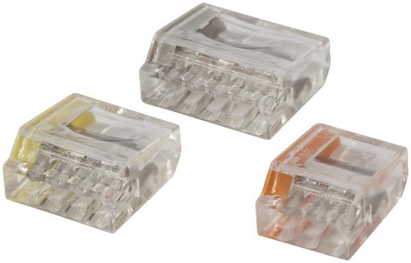 lot de bornes de connexion rapide lot de 10 pour 3 fils brico d p t. Black Bedroom Furniture Sets. Home Design Ideas