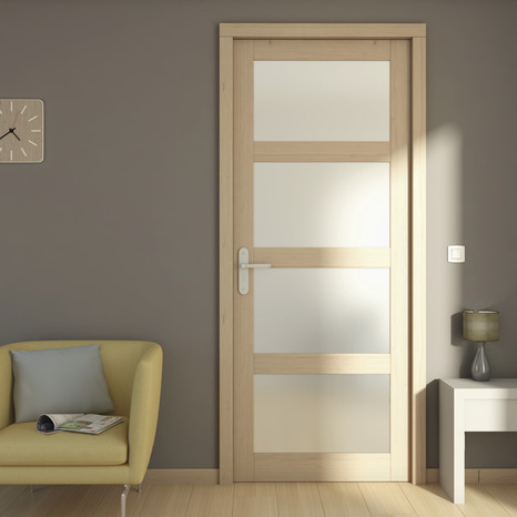 Bloc porte bois larg 73 cm droite brico d p t for Dimension porte interieur 83