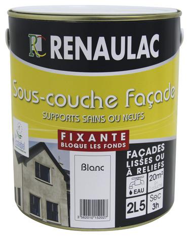 couche fixante opacifiante acrylique pour façades, murs et