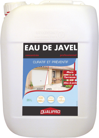 eau de javel 20 l pour nettoyer blanchir d sinfecter brico d p t. Black Bedroom Furniture Sets. Home Design Ideas