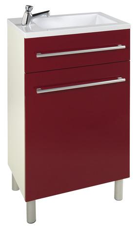 Meuble lave mains valence rouge brico d p t for Meuble vasque brico depot