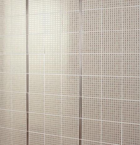 Fa ence nacr e beige aspect brillant pour salle de bain for Carrelage 20x20 beige