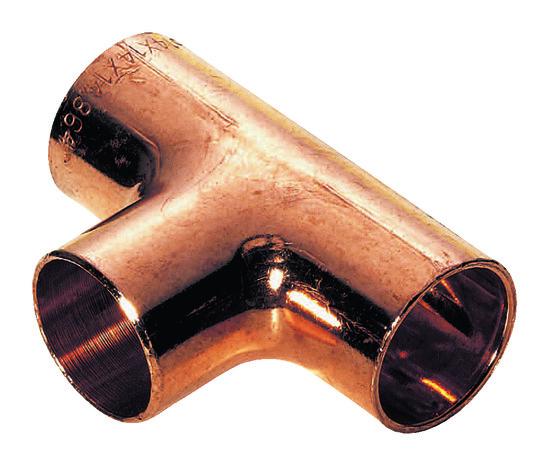 2 t s souder pour tube cuivre 22 mm avec embouts femelles brico d p t. Black Bedroom Furniture Sets. Home Design Ideas