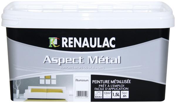 PEINTURE MURS INTÉRIEURS ASPECT MÉTAL 1,5 L Aspect métal Brico Dép u00f4t # Peinture Bois Interieur Brico Depot