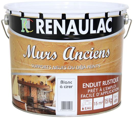 enduit rustique cirer les murs anciens mat 15 kg brico d p t. Black Bedroom Furniture Sets. Home Design Ideas