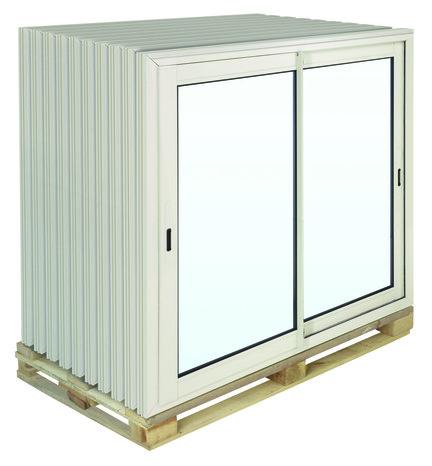 Coulissante En Aluminium Haute Isolation Blanc L X H Cm - Porte fenetre coulissante brico depot