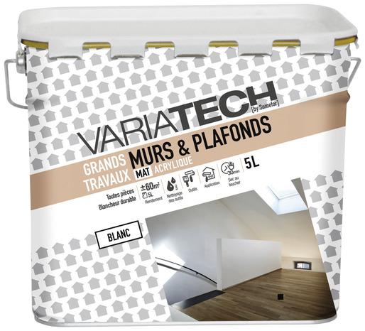 Peinture Acrylique Blanc Mat Pour Les Murs Et Plafonds  L  Brico Dpt