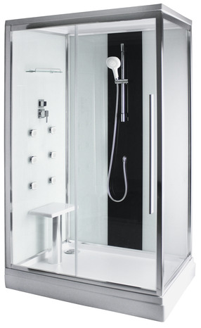 cabine de douche 120 x 80 cm brico d p t. Black Bedroom Furniture Sets. Home Design Ideas