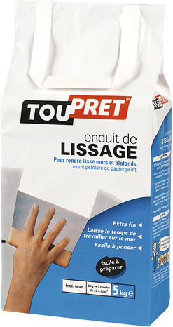 enduit de lissage en poudre aspect blanc 5 kg brico d p t. Black Bedroom Furniture Sets. Home Design Ideas