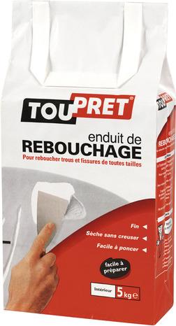 Enduit de rebouchage en poudre aspect blanc 5 kg brico d p t - Enduit joint placo brico depot ...