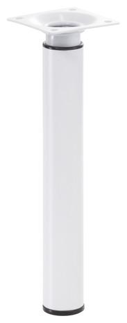 pied r glable en acier blanc 3 cm h 21 35 cm brico d p t. Black Bedroom Furniture Sets. Home Design Ideas