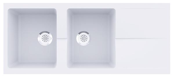 vier r sine tecto blanc 1 cuve brico d p t. Black Bedroom Furniture Sets. Home Design Ideas