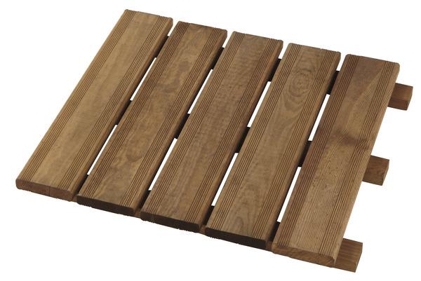 dalle en pin teint e marron 50x50 cm brico d p t. Black Bedroom Furniture Sets. Home Design Ideas