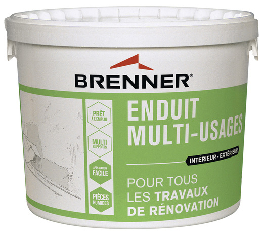 enduit de dgrossissage de supports irrguliers intrieur et extrieur en pte 7 kg brenner