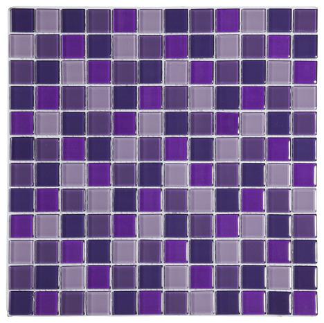 Mosa que de verre mix violet brico d p t for Carrelage salle de bain violet