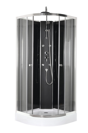 cabine de douche avec profil en aluminium chrom 85x85x225 cm brico d p t. Black Bedroom Furniture Sets. Home Design Ideas