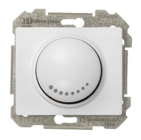 Interrupteur variateur rotatif 500 w clipser delta iris - Variateur de lumiere brico depot ...