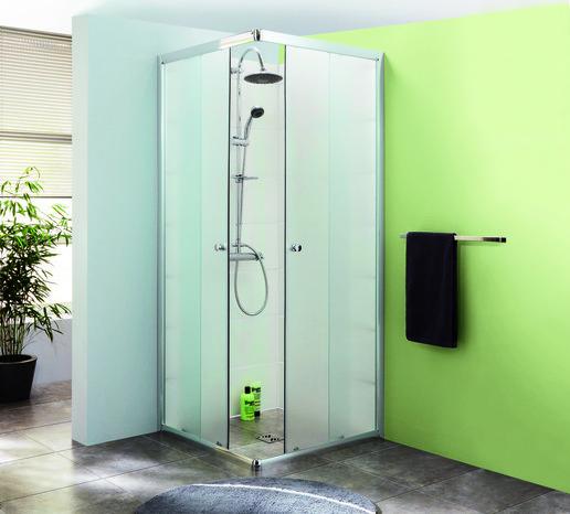 porte de douche avec profil en aluminium chrom h 185 cm. Black Bedroom Furniture Sets. Home Design Ideas