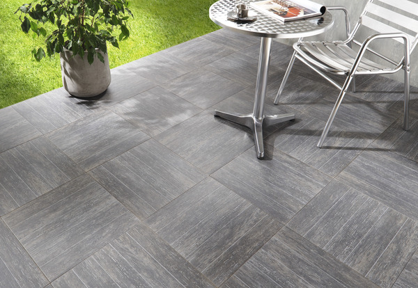 Gr s c rame maill caillebotis gris 42 5x42 5 cm brico for Carrelage terrasse brico depot