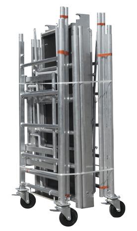 echafaudage aluminium pliant 5 2 m chafaudage 5 m brico d p t. Black Bedroom Furniture Sets. Home Design Ideas