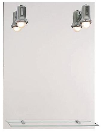 Miroir clairant de 65 cm par 50 cm brico d p t for Miroir salle de bain brico depot